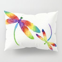 Little Rainbow Dragonflies Pillow Sham