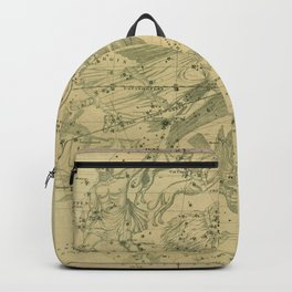 Antique Celestial Map June May April Backpack