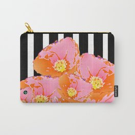Poppy Stripes - Pink Carry-All Pouch
