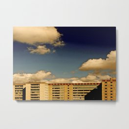 Office block and clouds Metal Print