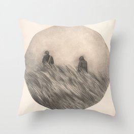 Below Throw Pillow