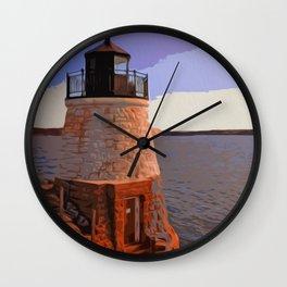 Castle Hill Lighthouse, Newport, Rhode Island Wall Clock