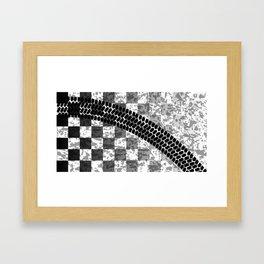 Flag Skid Mark Framed Art Print