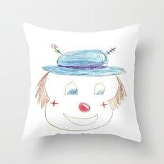 Childhood Drawings (clown) Throw Pillow
