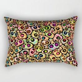 Calaveras del Día de los Muertos. Rectangular Pillow
