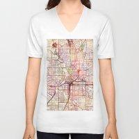 atlanta V-neck T-shirts featuring Atlanta by MapMapMaps.Watercolors