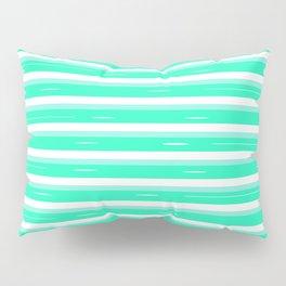 Mint stripes Pillow Sham