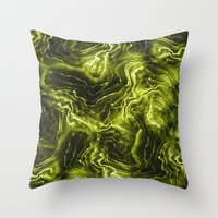 geode Throw Pillows featuring geode by maika