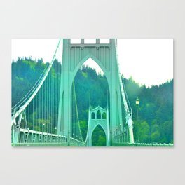 St. Johns Bridge Portland Oregon Canvas Print