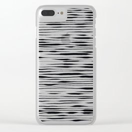 Hand Painted Lines / Thatch Clear iPhone Case