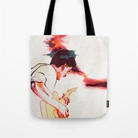 guitar Tote Bags featuring Guitar by tidlin