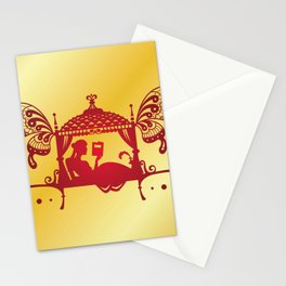Bridal Palanquin India.doli silhouette Stationery Cards