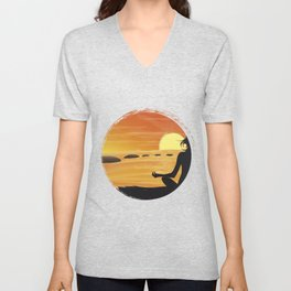 SUNSHINE YOGA Unisex V-Neck