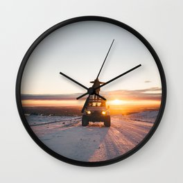 A Landy in the Landscape of Iceland Wall Clock