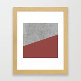 Concrete with Chili Oil Color Framed Art Print