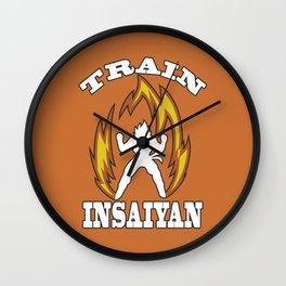 Train insaiyan Wall Clock