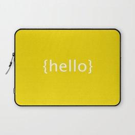 [Hello} postcard style print Laptop Sleeve
