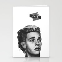 matty healy Stationery Cards featuring Matty's City by Kylie Ratto