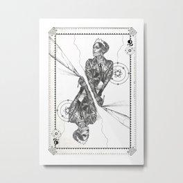 Queen of Carbon II Metal Print