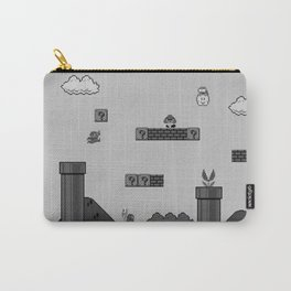 Mario Black & White Carry-All Pouch