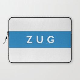 Zug region switzerland country flag name text swiss Laptop Sleeve