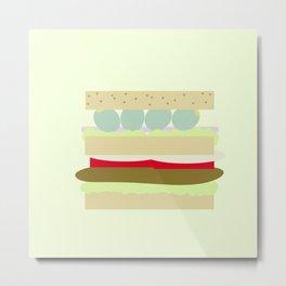 Sandwich Metal Print