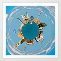 Rethymno little planet Art Print