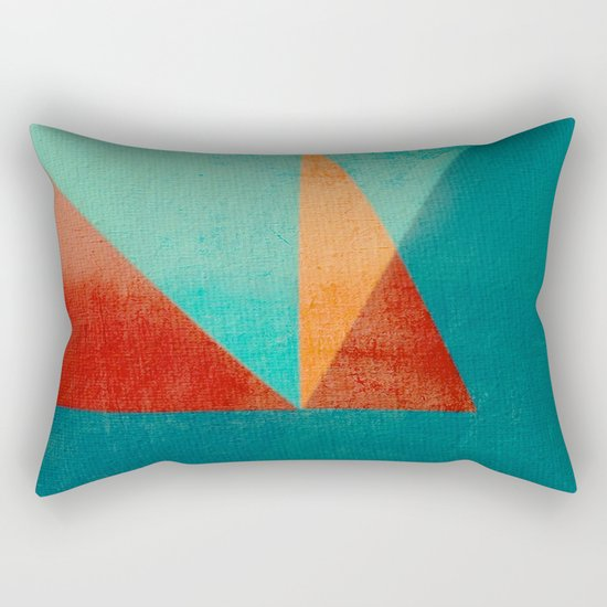 Sailing in River Mouth Rectangular Pillow