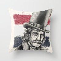 butcher billy Throw Pillows featuring The Butcher by Derek Guidry