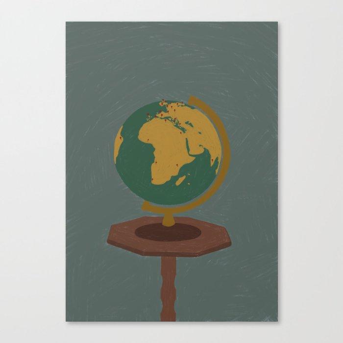 Globe Leinwanddruck