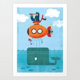 Whale Ahoy Art Print
