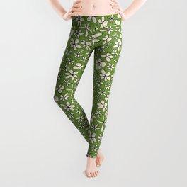 garland flowers green Leggings