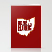 lebron Stationery Cards featuring Home of the King (White) by Denise Zavagno