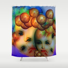 Thinking globally Shower Curtain