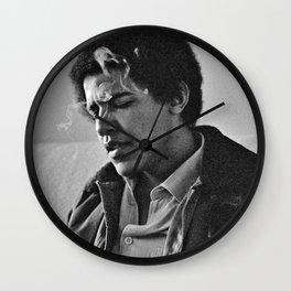 Young Barack Obama Smoking Wall Clock