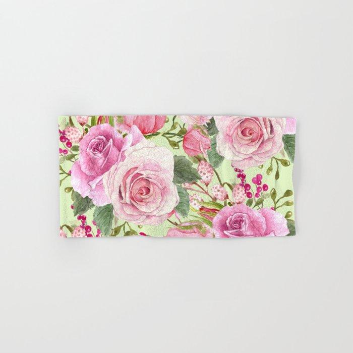 Watercolor Roses #5 Hand & Bath Towel