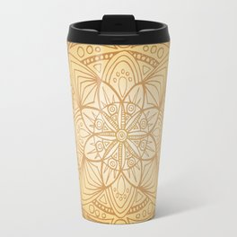Gold Sun Mandala Travel Mug
