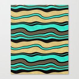 Horizontal wavy stripes. Canvas Print