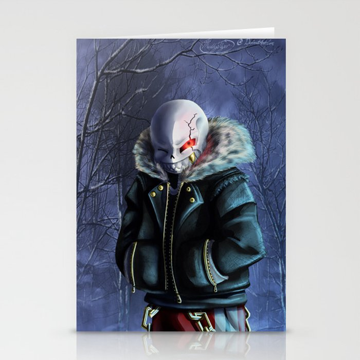 Underfell Sans Stationery Cards by theblueunicorn