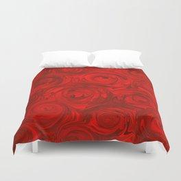 Juicy Red Apple Rose Pattern Duvet Cover