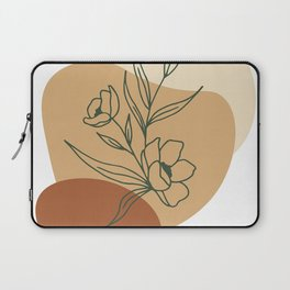 Abstract minimal floral Graphic Collection Laptop Sleeve