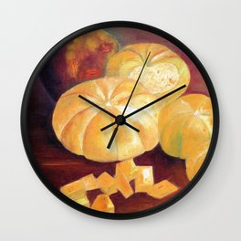 Composition with pumpkins Wall Clock
