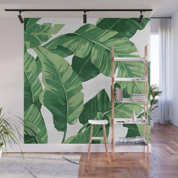 Tropical banana leaves IV Wall Mural