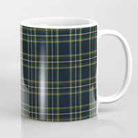 craftberrybush Mugs featuring Blue Tartan pattern  by craftberrybush