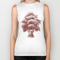thrones Biker Tanks featuring Old Growth  by Terry Fan
