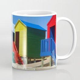 Beach houses at Muizenburg Coffee Mug