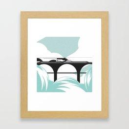 Cloudy Railway Framed Art Print