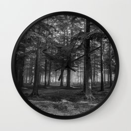 Black and white forest - North Kessock, Highlands, Scotland Wall Clock