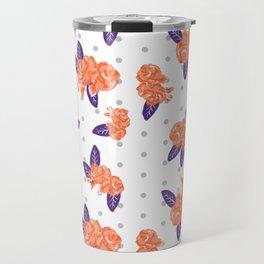 Floral clemson sports college football university varsity team alumni fan gifts purple and orange Travel Mug