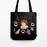 denmark Tote Bags featuring Hamlet - Prince of Denmark by TheScienceofDepiction